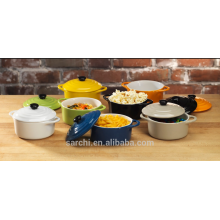 colorful mini cast iron casserole