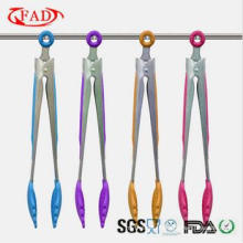 Food Grade & Easy Cleaned Silicone Kitchen Tongs with Stand