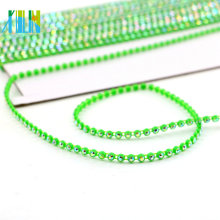 GBA010 Plastic Chain By The Yard Rhinestone Beaded Trim