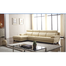 L Shape Corner Leather Sofa with Back Support (Y991)