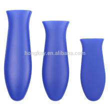 3 Sizes blue 3 PACK - Silicone Hot Handle Holder - Hot Handle Potholder for Cast Iron