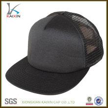 Sombrero de camionero personalizado Sombrero de algodón promocional de malla en blanco Flat Bill venta al por mayor de tapas de Hip Hop