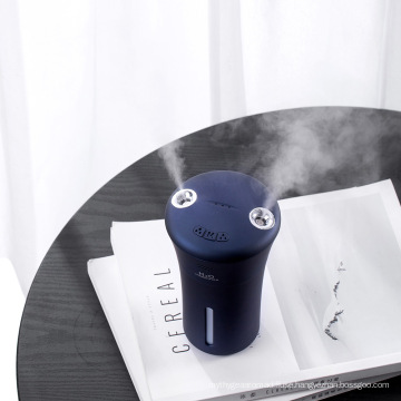 Mini Portable Mist Air Humidifier with Night Light Double Nozzle Humidifier Rechargeable Hunidifier for Car Room Office.
