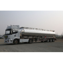 high quality stainless tank trailer with 3-5 compartments for liquid loading