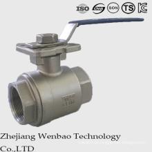 Válvula de esfera alta de aço inoxidável da carcaça do ISO 2PC