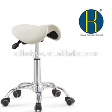 hochwertige weiße pu Barber Hocker Salon Möbel mit Fünf-Sterne-Basis