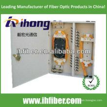Caixa de distribuição óptica de 24 portas (odf) corpo metálico de uma porta