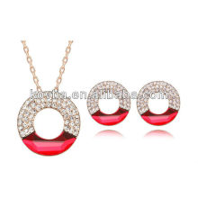 New arrival women party ruby jewelry set