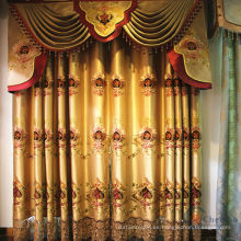 Tela de doble capa de organza cortina con valance elegante