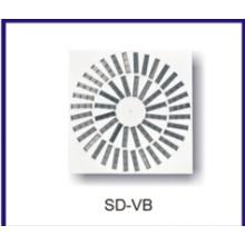 vente chaude aluminium tourbillon diffuseur d'air pour la ventilation