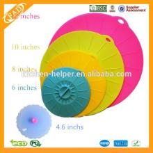 Безопасный набор для продуктов питания из 4 силиконовых крышек для многоразового всасывания для чашек Чашки для горшков