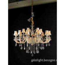 Big Crytal Chandelier Lamp Shades Pendant Light
