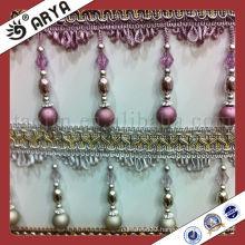 Acrylic Beads Beaded Tassel Fringe Home Decor Bamboo Curtain Decorative Accessories