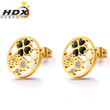 Accesorios de acero inoxidable regalo pendientes de moda joyas de oro pendientes (hdx1133)
