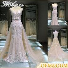 Guangzhou vestido fábrica moda design cor empoeirada uma linha celebridade vestido de noite