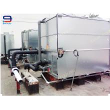 100 Ton Closed Circuit Cross Flow GHM-100 Cooling Tower Fülle Nicht runder Wasserkühler für Zwischenfrequenz Ofen