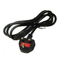 UK cable 3 pin AC power cord