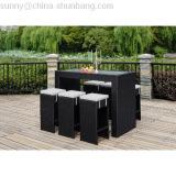 Wicker Bar Rattan Furniture, Rattan Dining Set / HB21.9331