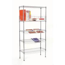 Modern Chrome Slanted Display Book Storage Shelf (CJ-B1119)