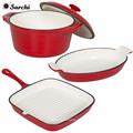 Cast iron enamel cookware-casserole pan set