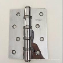 Tôle de fabrication de métal droite trou chromé charnière de porte de fer de polissage