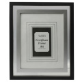 Black With Silver Inner A4 Certificate Frame