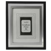 Nero con telaio certificato A4 interna argento