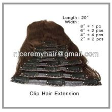 Clip in hair extensions factory price and fashion style in alibaba 100 human hair