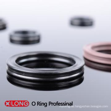 Schwarz As568 Standard Quad Ring für Hydraulikzylinder