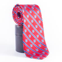 Men Private Label Château Red Stripes Cravates personnalisées