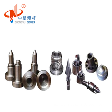 Cylinder head screw tip set for injection molding machine