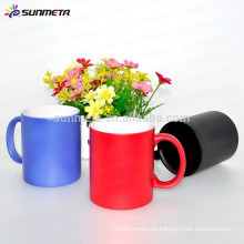 Sunmeta recubierto de color cambiar la taza de café de cerámica para la sublimación