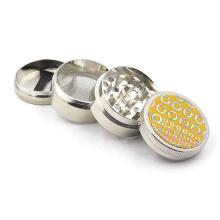 Four-layer sticker PU40mm super grinder smoking accessories