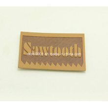 Coth Label Leather Patch Custom Any Color Embossed Metal Logo Label Plate Jeans PU Leather Patch