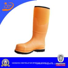 Bottes d'orteil en acier de genou de jaune vif de mode (ST-1772)
