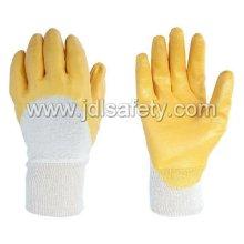 Nitril-Handschuh / Nitril getaucht /Interlock Liner mit gelben Nitril (NY1710)