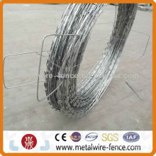 Razor wire road barrier