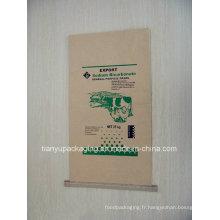 Seam Bottom Kraft Sac en papier pour engrais chimique, ciment