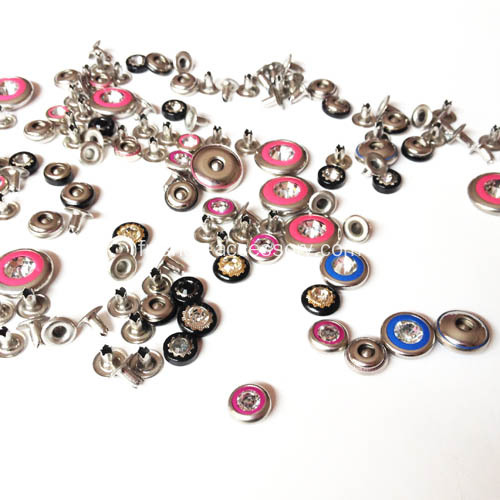 Rivets strass en strass en 9,5 mm
