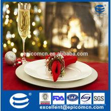 Placas de cena de cerámica de la nueva China de hueso de la alta calidad para la Navidad