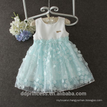 summer lovely baby flower frocks pink blue two colors frock design for baby girl