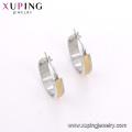 E-639 Xuping mode conçoit simple bijoux en or boucles d'oreilles clip bali pour les filles