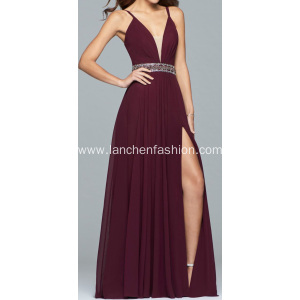 Sexy Beading Long Prom Dresses Ball Gown