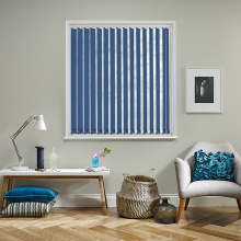 Blue Large Vertical Blinds