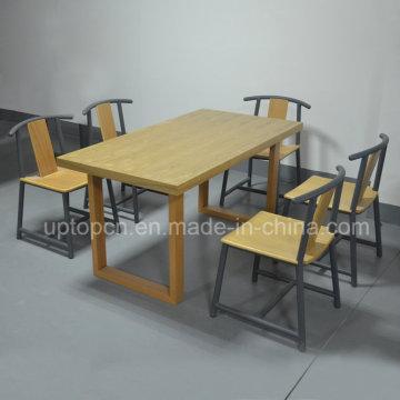 Оптовая прямоугольник деревянная мебель ресторан стулья для продажи (СП-CT748)