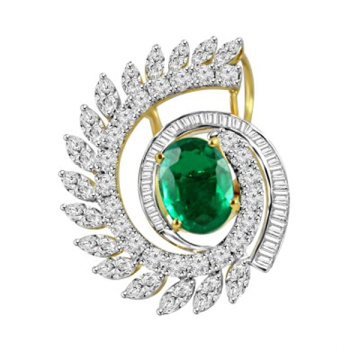 Fancy Shape Color Stone Pendant in 925 Sterling Silver Jewelry