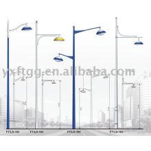 6-12meters solo o doble brazo solar calle poste de iluminación