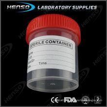 Récipient à urine de 60 ml avec bouchon à vis et étiqueté