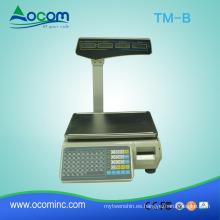 TM-B 30KG supermercado etiqueta de código de barras que pesa escala