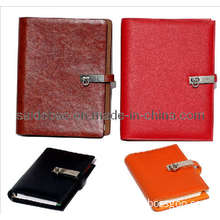 Soft Leather Loose-Leaf Organizer with Buckle